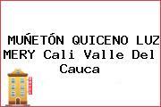 MUÑETÓN QUICENO LUZ MERY Cali Valle Del Cauca