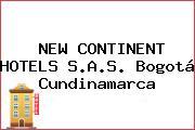 NEW CONTINENT HOTELS S.A.S. Bogotá Cundinamarca