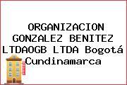 ORGANIZACION GONZALEZ BENITEZ LTDAOGB LTDA Bogotá Cundinamarca