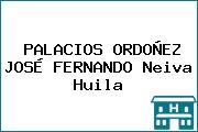 PALACIOS ORDOÑEZ JOSÉ FERNANDO Neiva Huila
