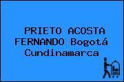 PRIETO ACOSTA FERNANDO Bogotá Cundinamarca