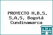 PROYECTO H.B.S. S.A.S. Bogotá Cundinamarca