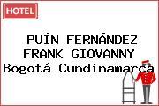 PUÍN FERNÁNDEZ FRANK GIOVANNY Bogotá Cundinamarca