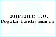 QUIBIOTEC E.U. Bogotá Cundinamarca
