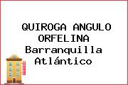 QUIROGA ANGULO ORFELINA Barranquilla Atlántico
