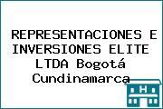 REPRESENTACIONES E INVERSIONES ELITE LTDA Bogotá Cundinamarca