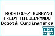 RODRIGUEZ BURBANO FREDY HILDEBRANDO Bogotá Cundinamarca