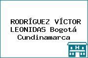 RODRÍGUEZ VÍCTOR LEONIDAS Bogotá Cundinamarca