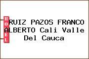RUIZ PAZOS FRANCO ALBERTO Cali Valle Del Cauca