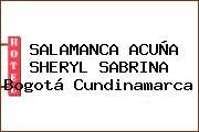 SALAMANCA ACUÑA SHERYL SABRINA Bogotá Cundinamarca