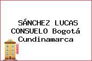 SÁNCHEZ LUCAS CONSUELO Bogotá Cundinamarca