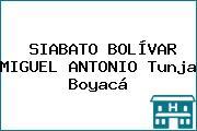 SIABATO BOLÍVAR MIGUEL ANTONIO Tunja Boyacá