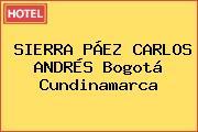 SIERRA PÁEZ CARLOS ANDRÉS Bogotá Cundinamarca