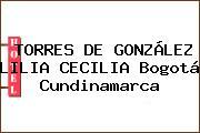 TORRES DE GONZÁLEZ LILIA CECILIA Bogotá Cundinamarca