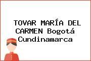 TOVAR MARÍA DEL CARMEN Bogotá Cundinamarca