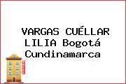 VARGAS CUÉLLAR LILIA Bogotá Cundinamarca
