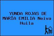 YUNDA ROJAS DE MARÍA EMILIA Neiva Huila