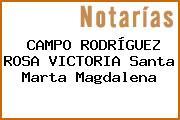 CAMPO RODRÍGUEZ ROSA VICTORIA Santa Marta Magdalena