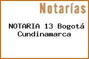 NOTARIA 13 Bogotá Cundinamarca