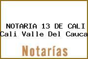 NOTARIA 13 DE CALI Cali Valle Del Cauca