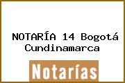 NOTARÍA 14 Bogotá Cundinamarca