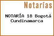 NOTARÍA 18 Bogotá Cundinamarca
