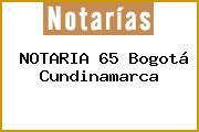 NOTARIA 65 Bogotá Cundinamarca
