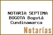 NOTARIA SEPTIMA BOGOTA Bogotá Cundinamarca