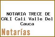 NOTARIA TRECE DE CALI Cali Valle Del Cauca