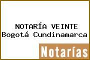NOTARÍA VEINTE Bogotá Cundinamarca