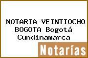 NOTARIA VEINTIOCHO BOGOTA Bogotá Cundinamarca