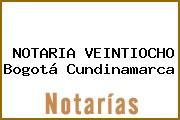NOTARIA VEINTIOCHO Bogotá Cundinamarca