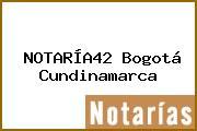 NOTARÍA42 Bogotá Cundinamarca