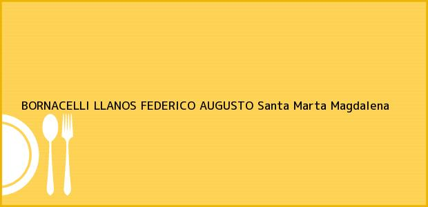 Teléfono, Dirección y otros datos de contacto para BORNACELLI LLANOS FEDERICO AUGUSTO, Santa Marta, Magdalena, Colombia