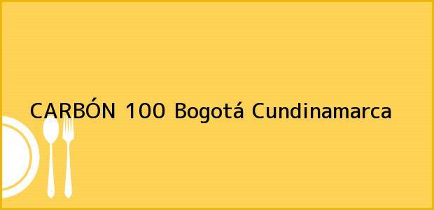 Teléfono, Dirección y otros datos de contacto para CARBÓN 100, Bogotá, Cundinamarca, Colombia