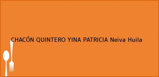 Teléfono, Dirección y otros datos de contacto para CHACÓN QUINTERO YINA PATRICIA, Neiva, Huila, Colombia