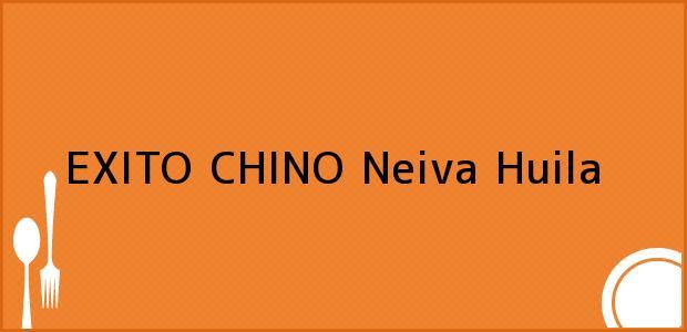 Teléfono, Dirección y otros datos de contacto para EXITO CHINO, Neiva, Huila, Colombia
