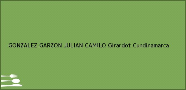 Teléfono, Dirección y otros datos de contacto para GONZALEZ GARZON JULIAN CAMILO, Girardot, Cundinamarca, Colombia