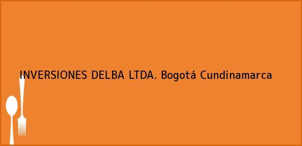 Teléfono, Dirección y otros datos de contacto para INVERSIONES DELBA LTDA., Bogotá, Cundinamarca, Colombia