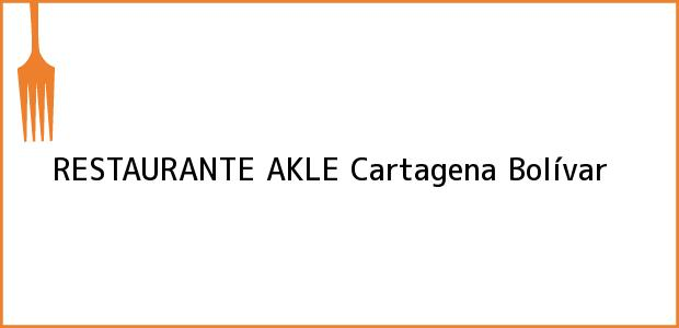 Teléfono, Dirección y otros datos de contacto para RESTAURANTE AKLE, Cartagena, Bolívar, Colombia