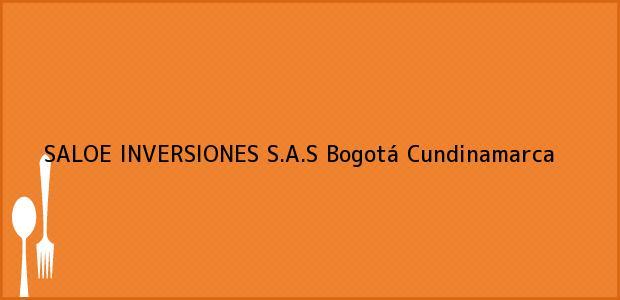 Teléfono, Dirección y otros datos de contacto para SALOE INVERSIONES S.A.S, Bogotá, Cundinamarca, Colombia