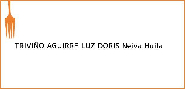 Teléfono, Dirección y otros datos de contacto para TRIVIÑO AGUIRRE LUZ DORIS, Neiva, Huila, Colombia