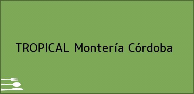 Teléfono, Dirección y otros datos de contacto para TROPICAL, Montería, Córdoba, Colombia