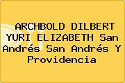 ARCHBOLD DILBERT YURI ELIZABETH San Andrés San Andrés Y Providencia