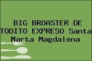 BIG BROASTER DE TODITO EXPRESO Santa Marta Magdalena