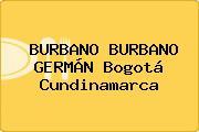 BURBANO BURBANO GERMÁN Bogotá Cundinamarca