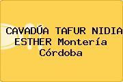CAVADÚA TAFUR NIDIA ESTHER Montería Córdoba