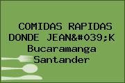 COMIDAS RAPIDAS DONDE JEAN'K Bucaramanga Santander