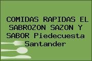 COMIDAS RAPIDAS EL SABROZON SAZON Y SABOR Piedecuesta Santander