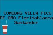 COMIDAS VILLA PICO DE ORO Floridablanca Santander
